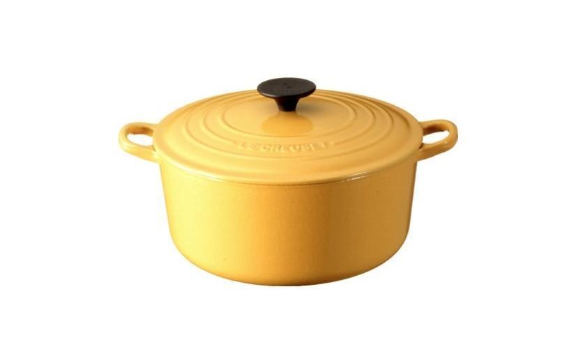 ルクルーゼ ココット ロンド ホーロー 鍋 IH 対応 24cmで煮崩れが少なく、料理が楽しい!
